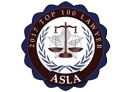 2017 Top 100 Lawyers - ASLA Badge